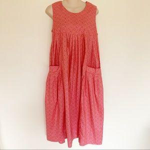Vintage Laura Ashley Floral Pinafore Dress